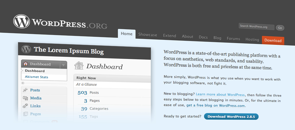 Wordpress 2.8.5