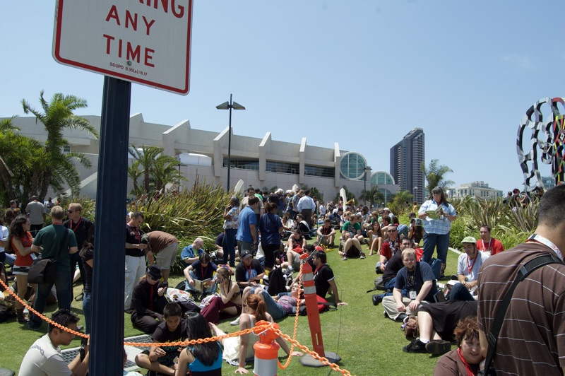 The cray line for Hall H