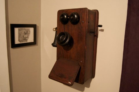 Agent Smith and 1930's Wall Phone